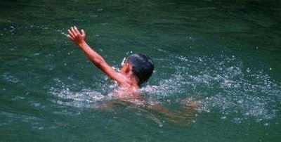 2名少年用竹竿救起落水女童