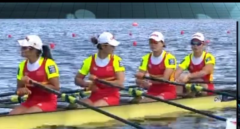 第10金!中国组合摘女子赛艇金牌