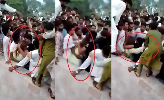 巴基斯坦女子公园遭400名男性骚扰