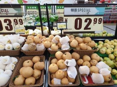 韩国一个梨涨至20多元