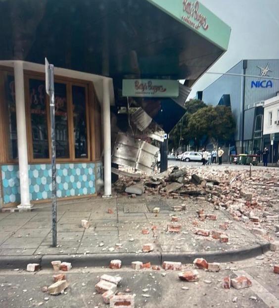 澳大利亚5.9级地震 震塌墨尔本楼房